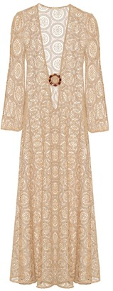 Dodo Bar Or Floral-lace cotton dress