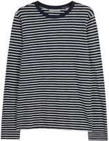 Vince Midnight Blue Striped Cotton Top