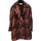 Stella McCartney Stella Mc Cartney Burgundy Wool Coats