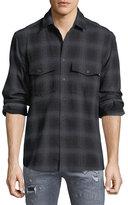 Marcelo Burlon County of Milan Sham Jaguar-Print Flannel Plaid Shirt