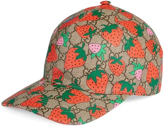 Gucci GG baseball hat with Strawberry