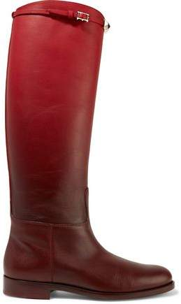 Valentino Rockstud Ombré Leather Boot