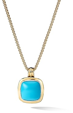 David Yurman Albion Pendant with 18K Yellow Gold & Reconstituted Turquoise