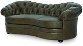 Century Furniture Ebron Curved Leather Sofa 88