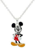 "Disney As Is Enamel Mickey or Minnie Pendant w/ 18"" Chain"