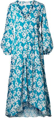 Borgo de Nor Floral-print Crepe De Chine Midi Dress