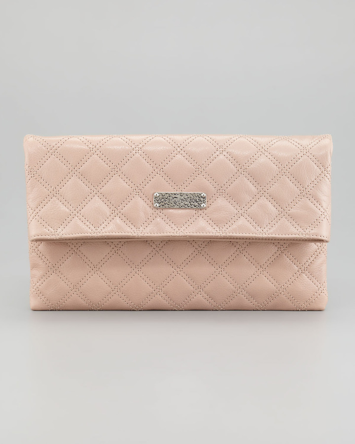 Marc Jacobs Eugenie Baroque Quilted Leather Clutch Bag, Blush