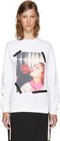 Kenzo White Donna Jordan Zipped Sweatshirt