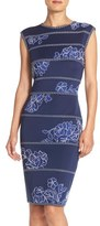Tadashi Shoji Women's Embroidered Neoprene Sheath Dress