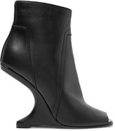 Rick Owens Cutout leather ankle boots