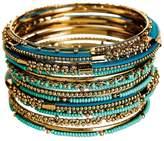 Rain Jewelry Gold Turquoise Bead Bracelet