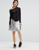 Minimum Moves Tylle Metallic Skater Skirt