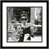 Amanti art Audrey Hepburn Breakfast At Tiffany's Window Framed Wall Art