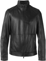 Michael Kors high neck zipped jacket - men - Leather/Polyester - S