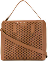 Furla perforated top handle bag - women - Calf Leather - One Size