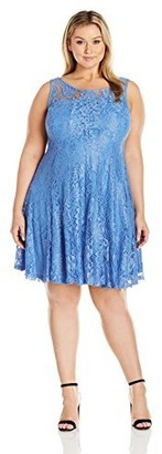 Julian Taylor Women's Plus Size Full Figured Seam Down Lace Dress