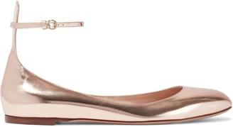 Valentino Tango Metallic Leather Ballet Flats