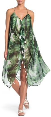 Pool To Party Printed Tassel Maxi Cover Up Dress