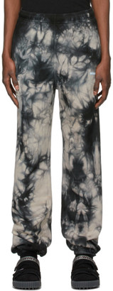 Off-White Black and Blue Tie-Dye Lounge Pants