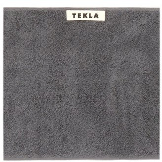 Tekla - Organic-cotton Rectangular Wash Cloth - Dark Grey