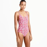 J.Crew Strappy one-piece swimsuit in Liberty Art Fabrics Wiltshire print
