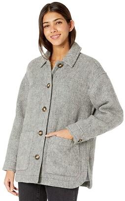 Madewell Walton Shirt Jacket (Mid Grey Multi Heather) Women's Coat