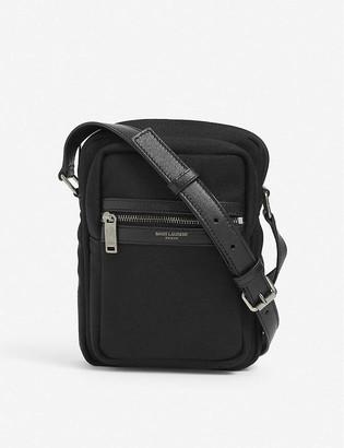 Saint Laurent Canvas and leather crossbody bag