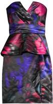 Parker Black Makani Butterfly-Print Peplum Dress