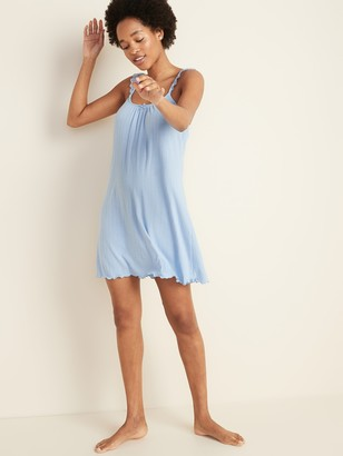 Old Navy Pointelle-Knit Lace-Trim Cami Nightgown for Women