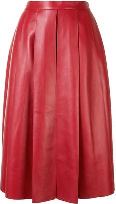 Alexander McQueen pleated A-line skirt