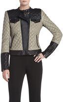 BCBGMAXAZRIA Keith Quilted Moto Jacket