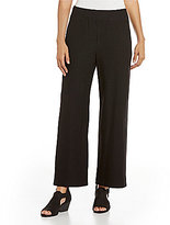 Eileen Fisher Wide Stretch Crepe Ankle Pants
