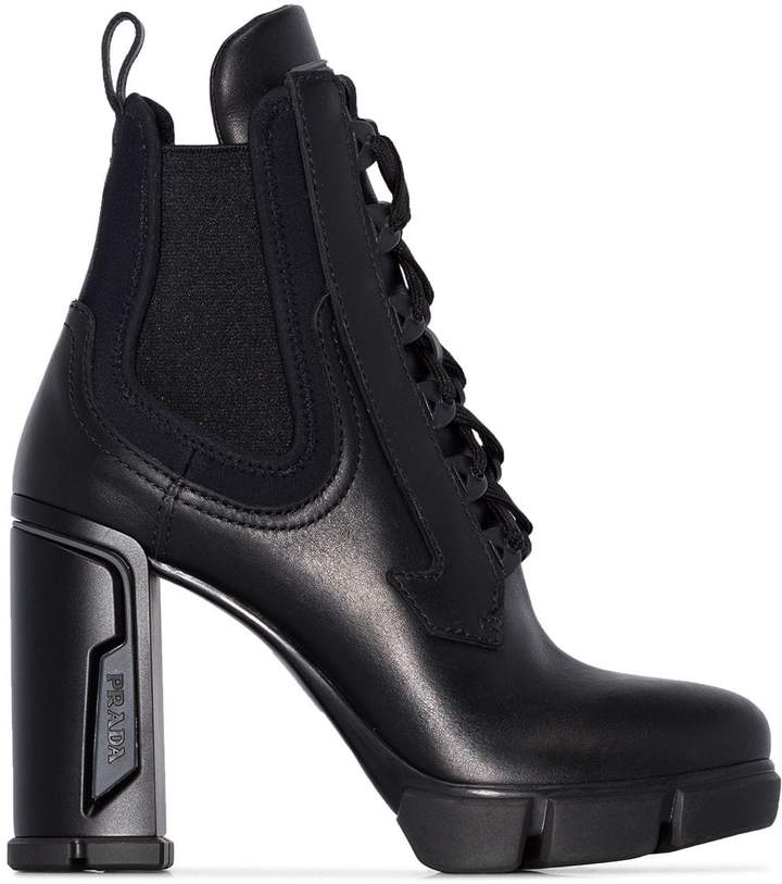 e7ca8dccdff lace-up 110mm military ankle boots