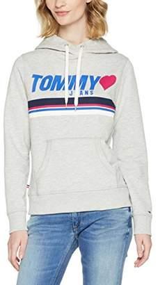 Tommy Jeans Women's Logo Hoodie Sweatshirt,Large