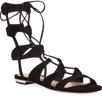 Schutz Erlina Suede Lace-Up Gladiator Sandals