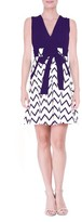 Olian Women's Chevron Print Maternity Dress