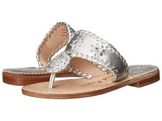 Jack Rogers Miss Hamptons II (Toddler/Little Kid/Big Kid) (Silver 1) Girl's Shoes