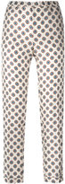 Alberto Biani patterned trousers - women - Silk - 44
