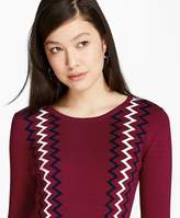 Brooks Brothers Zigzag Cotton Sweater