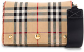 Burberry Small Hackberry Bag in Archive Beige & Black | FWRD