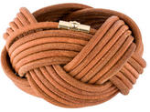 Reed Krakoff Woven Leather Bangle