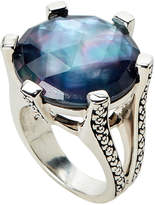 Stephen Dweck Mother-of-Pearl & Hematite Ring Size 8