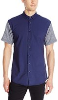Publish BRAND INC.. Men's Hans Short Sleeve Premium Stretch Oxford with Terry Sleeves