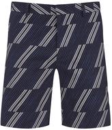 Msgm Print Shorts Blue