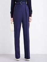 Roksanda Tillae high-rise wool and silk-blend trousers