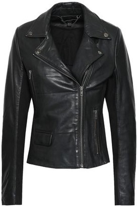 Muu Baa Muubaa Consolida Jersey-paneled Leather Biker Jacket