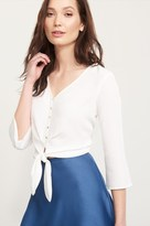 Dynamite Cropped Tied Blouse