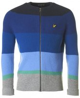 Lyle And Scott Archive Striped Bomber Knit