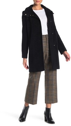 Cole Haan Wool Blend Snap Button Coat
