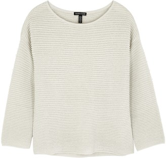 Eileen Fisher Metallic-weave Ribbed-knit Jumper